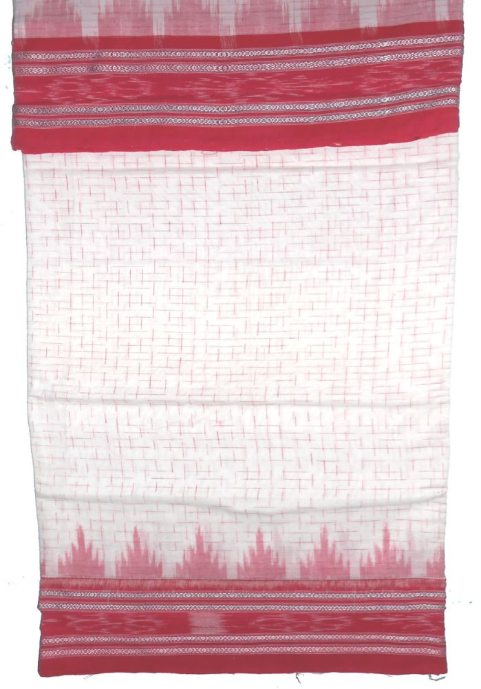 Cotton puja saree white color in body