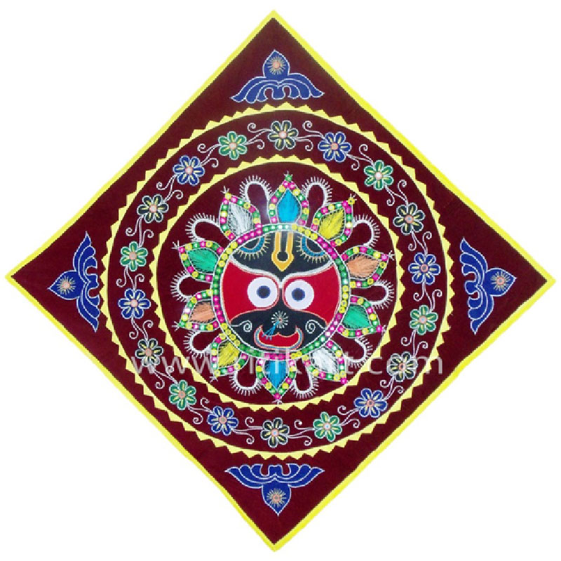 Lord Jagannath Design Wall Hanging Applique