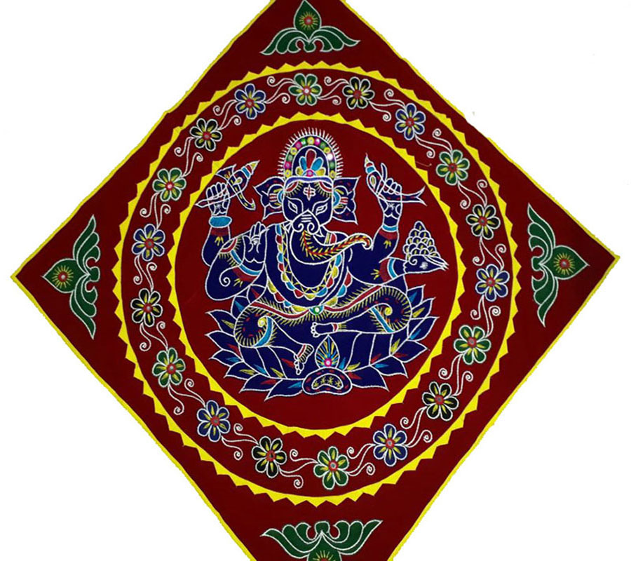 Lord Ganesh Design Wall Hanging Applique