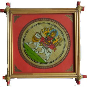 Straw frame art goddesh durga