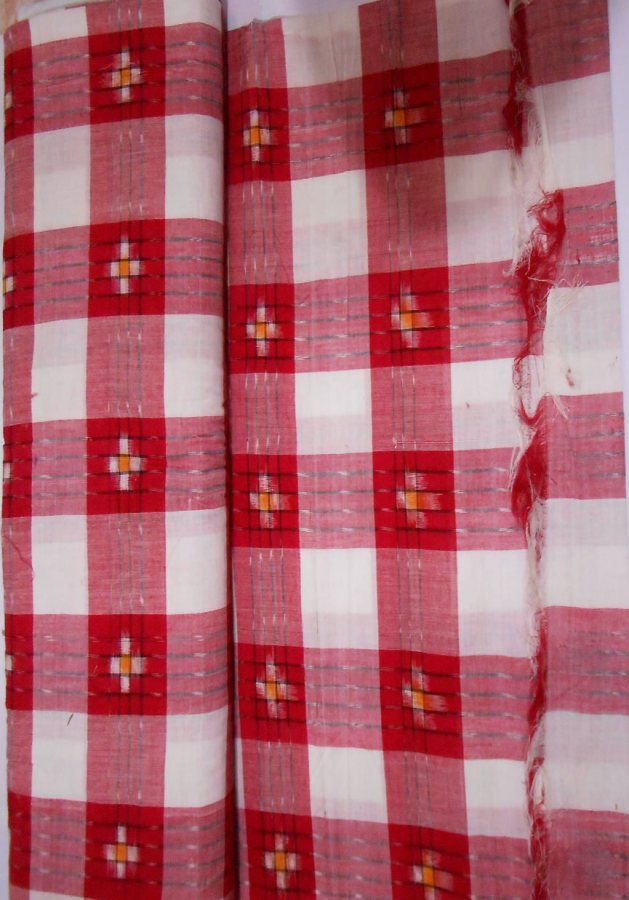 Pasapali red stripped ikat design